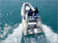 rent a exclusive speed boat - FLYER 575 with Honda 135 HP