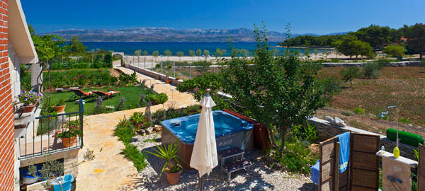 Beautiful holiday beach villa in Supetar on Brač Island in Croatia