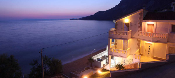 Seafront five star luxury villa on Makarska Riviera in Dalmatia in Croatia