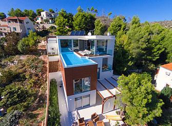Waterfront villa on Brac island with Mediterranean view