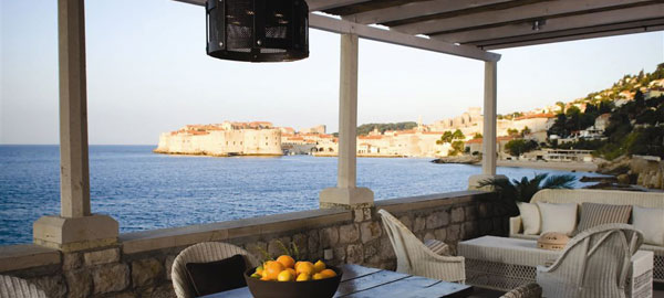 Luxury Villa with direct over water view on the Old Dubrovnik City walls