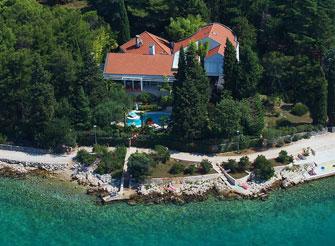Luxury seaside villa with Mediterranean garden on Krk