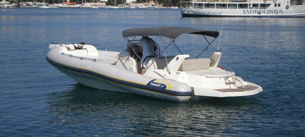 Exclusive RIB rental with skipper in Dubrovnik region