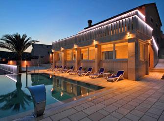 Seafront luxury villa on Korčula Island with infinity pool