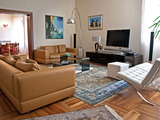 Living area in luxury Dalmatian villa in Split Croatia