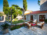Leisure area in front of this exclusive villa in Dubrovnik