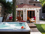 Jacuzzi in front of this exclusive villa in Dubrovnik for rent