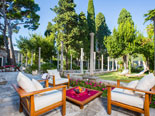 View on the park from the leisure area in luxury Dubrovnik villa