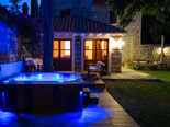 Night atmosphere in leisure area of the luxury Dubrovnik villa for rent