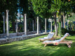 Sunbeds in the garden of the rental villa in Dubrovnik