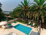 Pool in luxury villa in Dubrovnik from the north side