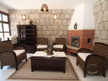 Fireplace lounge in seafront Dubrovnik luxury villa