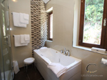 Bathroom - other view - in master bedroom 2 in seafront Dubrovnik luxury villa