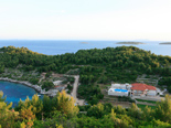 View on five star luxury villa on the island of Korcula in Croatia