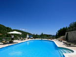 View on pool area in the 5 star luxury villa on the island Korcula in Dalmatia Croatia