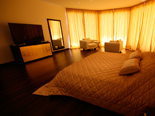 The Golden bedroom in the 5 star luxury villa on the island Korcula in Dalmatia Croatia