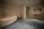 The Blue bedroom bathroom in the 5 star luxury villa on the island Korcula in Dalmatia Croatia