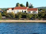 Seafront villa with pool in Mirca on Brac Island directly on the beach