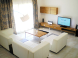 Living room in holiday villa with pool in Mirca on Brac Island