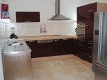Kitchen in holiday villa with pool in Mirca on Brac Croatia