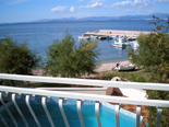 View from the bedroom in holiday villa with pool in Mirca on Brac Croatia