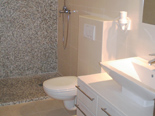 Bathroom in holiday villa with pool in Mirca on Brac Croatia