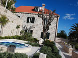 Outside area with Jacuzzi at the 18th century stone luxury villa in Dubrovnik