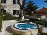 Jacuzzi in front of the luxury villa in Dubrovnik for rent