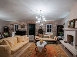 Living room of this luxurious rental villa in Dubrovnik is very spacious and stylishly decorated