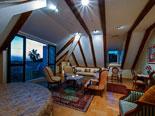 De luxe suite on the top floor in the Dubrovnik luxury villa for rent