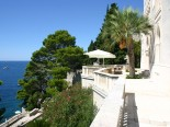 Outside of the waterfront luxury villa in Dubrovnik Croatia