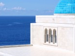 The dome of the waterfront luxury villa in Dubrovnik Croatia