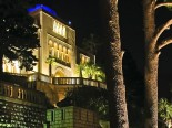 The view on the waterfront luxury villa in Dubrovnik Croatia by night