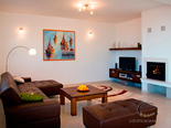 Living room in master building in luxury holiday villa on island Brac