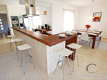 Kitchen and dining room in five star villa on island Brac Dalmatia Croatia