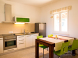 Kitchen in guest annexi in five star villa on Brač island in Dalmatia Croatia