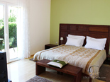 Bedroom in luxury holiday villa on island Brac in Dalmatia in Croatia