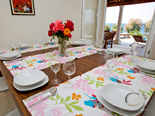 Dining room in holiday villa on Dalmatian island Brač in Croatia
