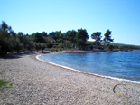 Beach in front of the luxury villa for rent on island Brac in Dalmatia in Croatia