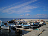 Fisherman's port in the village near luxury villa for rent on island Brac in Dalmatia in Croatia
