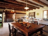 Dining Room and the kitchen of the Luxury Istrian Country Villa