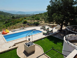 View on the Kastela Bay from the luxury villa in Trogir countryside