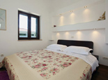 Bedroom in the luxury villa in Trogir countryside in Dalmatia