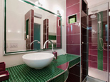Bathroom in the luxury villa in Trogir countryside in Dalmatia
