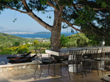 Outside terrace in the luxury villa in Trogir countryside in Dalmatia