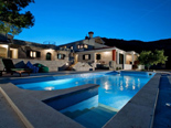 Night view on the Luxury villa in Trogir countryside