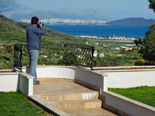 Viewpoint on the Kastela Bay from the luxury villa in Trogir countryside