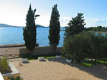 View from the villa in Dalmatia in Šibenik region