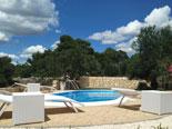 Pool area in luxury villa near Pirovac in Dalmatia in Šibenik region