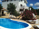 Pool area of the luxury villa near Pirovac in Šibenik region